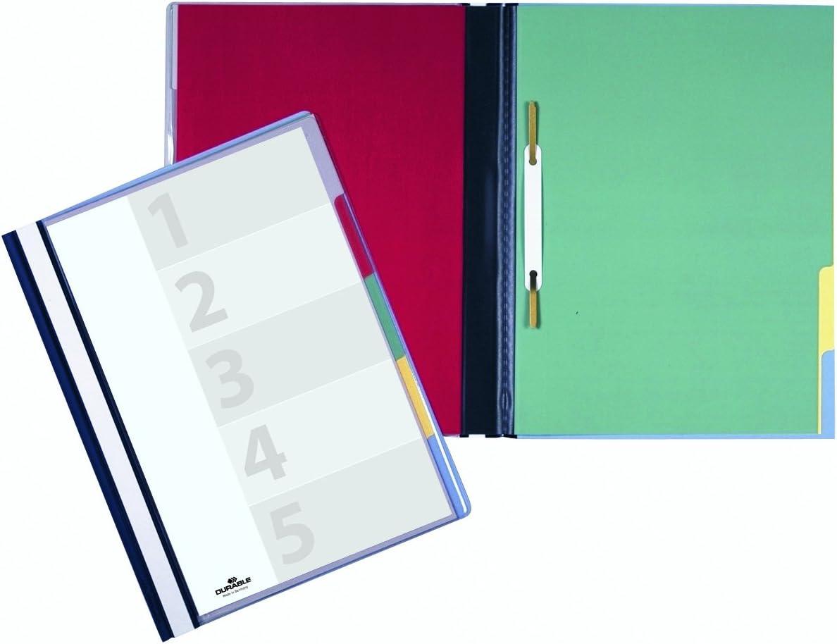 1 Stück Blau Durable 255706 Divisoflex 5-Teiliger Hefter