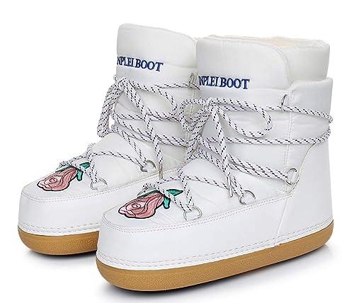 AARDIMI - Botines Mujer, Color Blanco, Talla 35/36 EU: Amazon.es: Zapatos y complementos