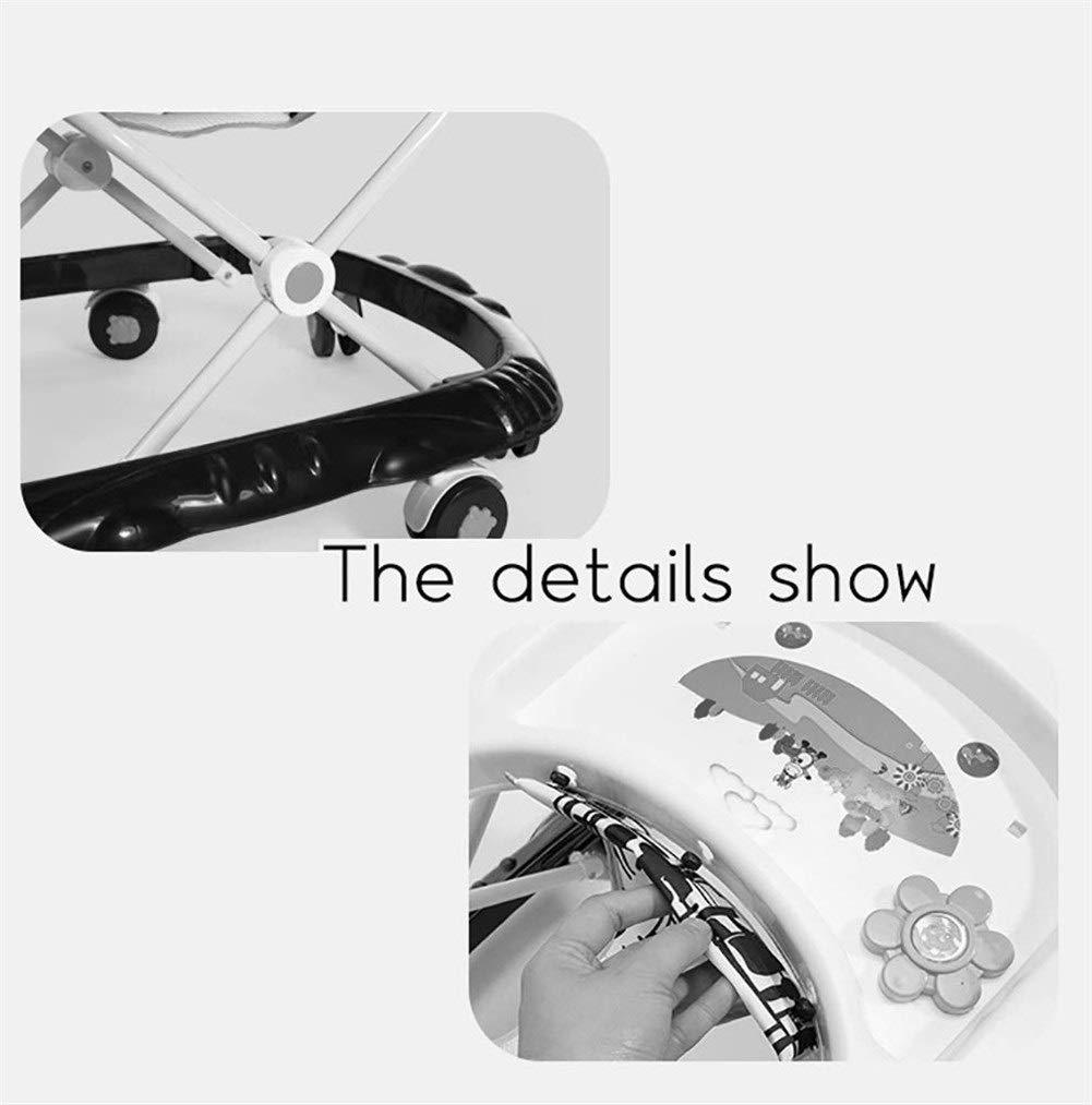 pr/évention du Renversement LMSTC Trotteur Pliant for b/éb/és 6//7-18 Mois Color : Blue Trottinette Multifonction Marchant avec Chariot /à Jouets musicaux