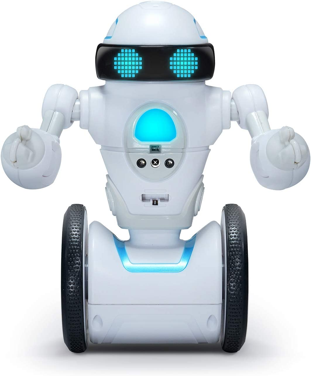 WowWee MiP Arcade - Interactive Self-Balancing Robot - Play App-Enabled or Screenless Games with RC, Dancing & Multiplayer Modes - Includes Tray & Basketball Accessories - for Kids Ages 6 & Up