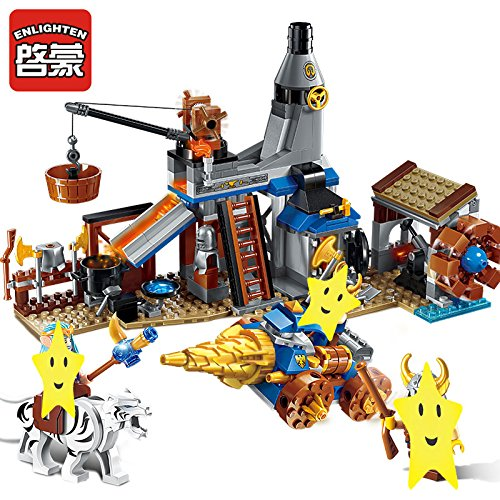Enlighten Castle War of Glory Blacksmith's Shop 3 Figures 368pcs Building Block - Without Original Box