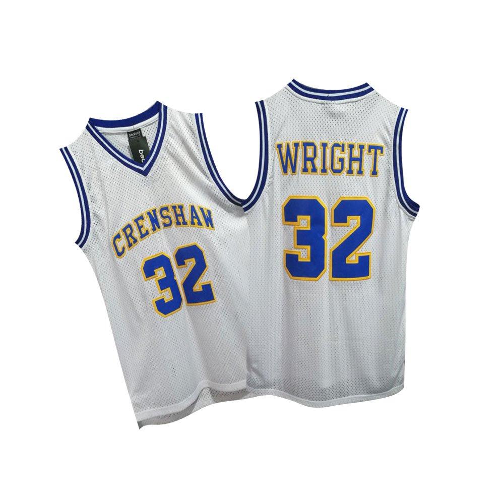 Amazon.com  beolous NO.32 Crenshaw Jersey Basketball Jersey S-XXXL White   Clothing fae3692fd4