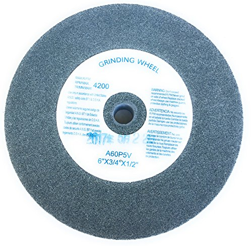 6-Inch by 3//4-Inch POWERTEC 15508 Silicon Carbide Grinding Wheel