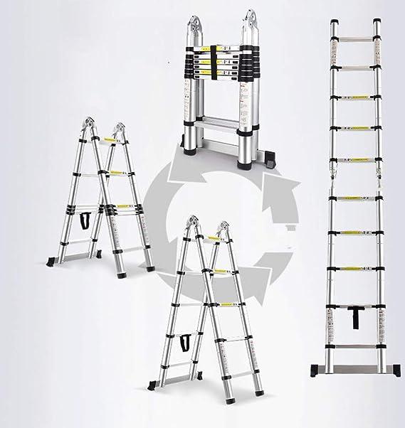 Cikonielf /Échelle pliable multifonction /à 12 marches en alliage daluminium pour entrep/ôt domestique Charge maximale 131 kg