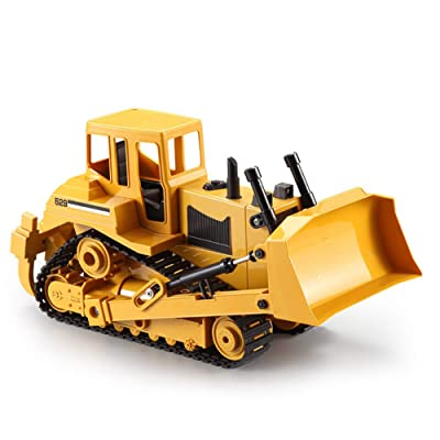 W&HH 1:20 Scale RC Bulldozer,Toy Excavator for Boys,RC Remote Control Construction Toy Tractor with Lights & Sounds 2.4Ghz Can Dig Up to 3.5 Lbs: Sports & Outdoors