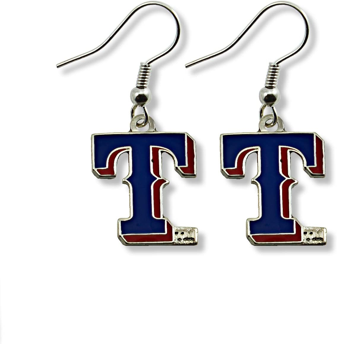 Texas Rangers J-Hook Logo Dangle Earrings