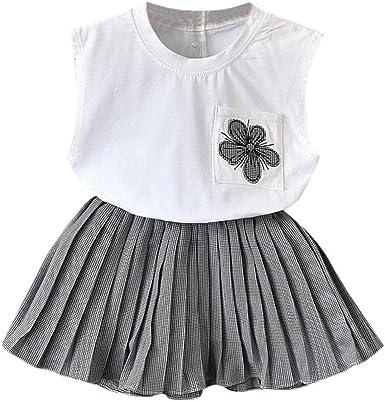 Berimaterry Vestido para Bebés Ropa Impresa de Camisa y del ...