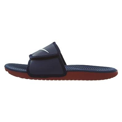 750288ce53d Nike Kawa Adjust  834818-404  Men Sandals Slides Blackened Blue Sail-