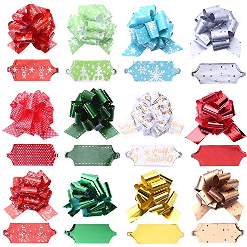 CCINEE Pull Bows Gift Wrapping Ribbon Bows for Birthday St. Valentine's Day Gift Wrapping Pack of 24