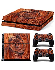 DAPANZ Wooden Skin Sticker Vinyl Decal Protective Cover for Playstation 4 Console Dualshock 4 Wireless Controllers