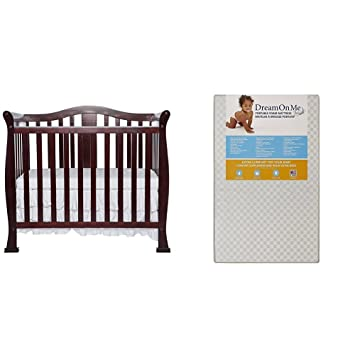 Dream On Me Naples, 4 In 1 Convertible Mini Crib With Dream On Me 3