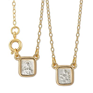 white scapular studio necklace bijoux to solid vito gold order
