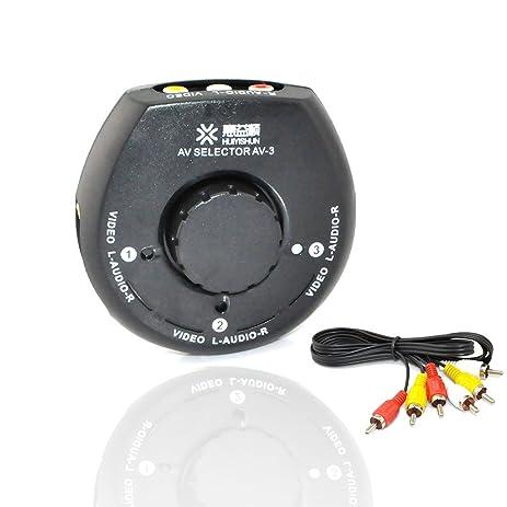 Amazoncom iKKEGOL 4 Way 3 Input 1 Output Audio Video Game AV