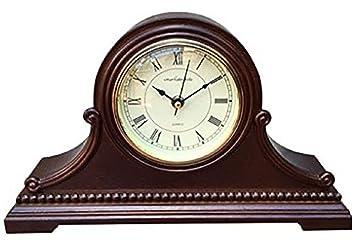 Vmarketingsite Horloge De Cheminee En Bois Massif Avec Carillon