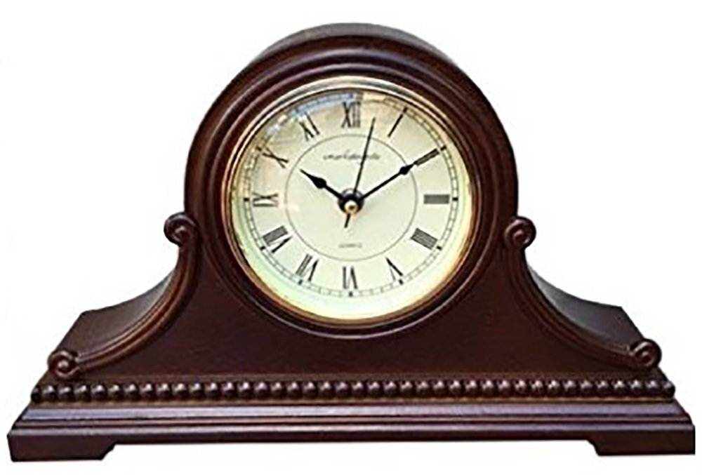 Mantel Clocks: Vmarketingsite Wood Mantel Clock with Westminster Chime. This Solid Wood Decorative Chiming Mantel Clock Is Battery Operated. Quiet, Shelf Mantel Clock Westminster Chimes On The Hour. by Vmarketingsite