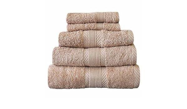 Catherine Lansfield Home 100% algodón toalla de mano, color marrón claro: Amazon.es: Hogar