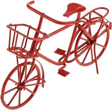 Maison de poupées rouge tandem vélo fait pour deux petites miniatures