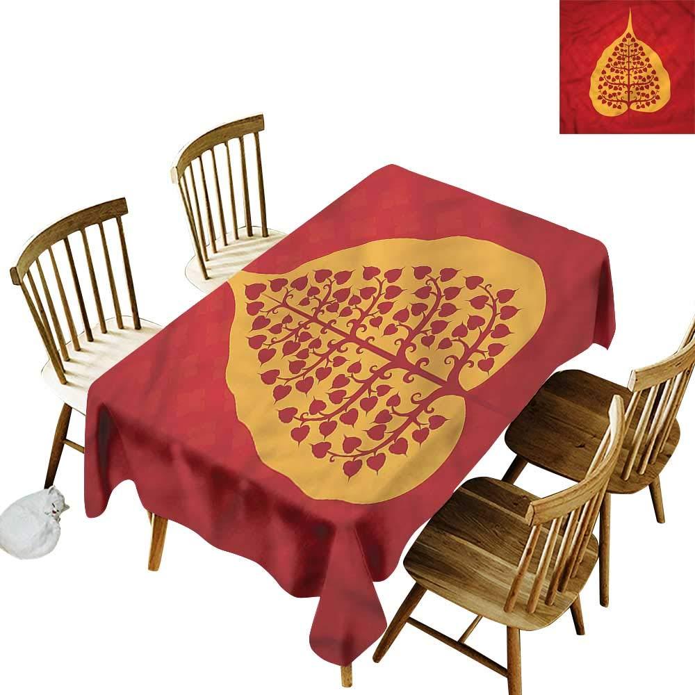Amazon.com: one1love Custom Tablecloth Leaf Artistic Bodhi ...