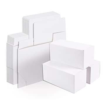 White Gift Boxes 12 Pack Rectangle Gift Wrapping Paper Boxes With Lids Kraft Boxes For Party Supplies