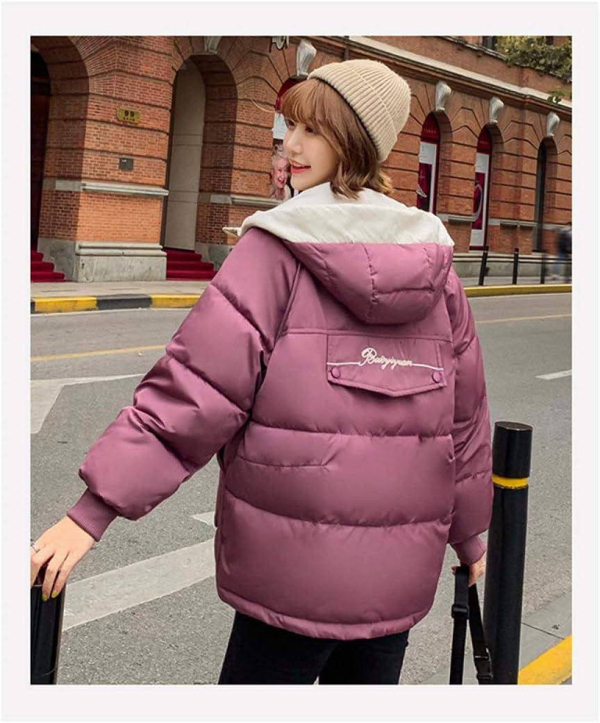 EIJFKNC Blousons Manteau d'hiver à Capuchon Femme Veste Femme Nouvelle Veste en Vrac col de Grande Taille survêtement épaissie voir le tableau