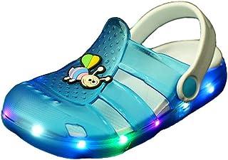 Unisex Bambino Moda Sandali,LED Luminoso Leggero Casuale Scarpe Sportive all'aperto Estate Spiaggia Antiscivolo Pantofole con Fori LED Luminoso Leggero Casuale Scarpe Sportive all'aperto Estate Spiaggia Antiscivolo Pantofole con Fori