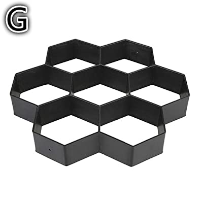 Cake Moulds, Gardening 8/9 Grids Pathmate Stone Mold Paving Concrete Stepping Pavement Paver soap molds (G): Beauty