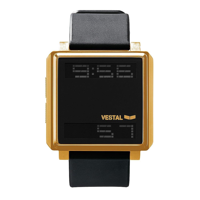 Vestal tradr04 Riegel Armbanduhr – Schwarz-Gold-Negativ