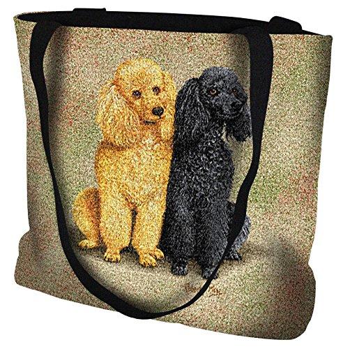 [Poodles Tote Bag - 17 x 17 Tote Bag] (Poodle Cooler)