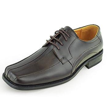 Mocasines de Hombre Zapatos de Vestir Oxford con Punta de Bicicleta Cuadrados Formales (Color : Marrón, Size : 40 EU): Amazon.es: Hogar