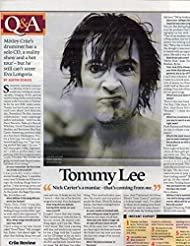 Motley Crue Tommy Lee original clipping magazine photo 1pg 8x10 #Q9400