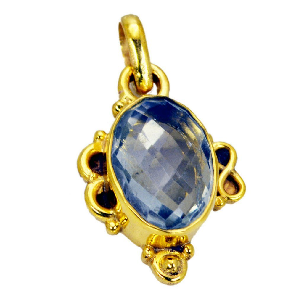 Natural Amethyst Gold Plated Pendant For Women Chakra Healing Necklace Astrological Handmade Jewelry