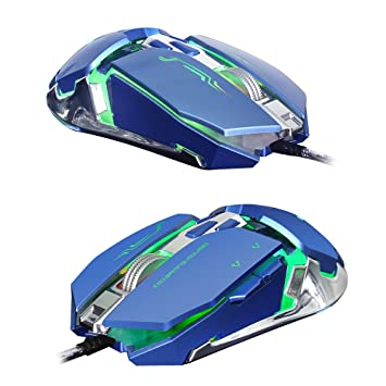 ZERODATE USB Wired Gaming Mouse Mechanical Mice 3200DPI 7 Buttons LED for PC