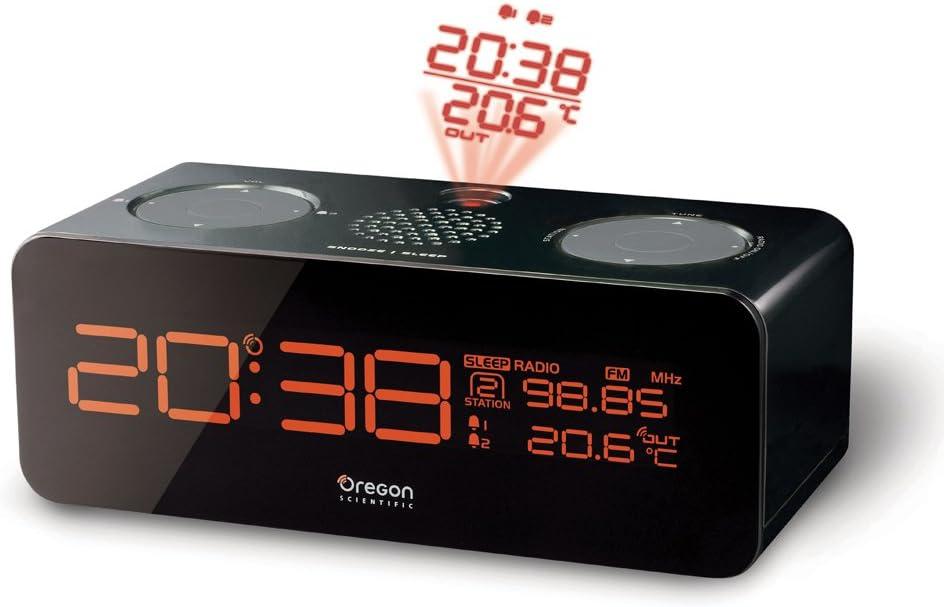 Oregon Scientific Projector Alarm Clock Reloj proyector, Negro ...