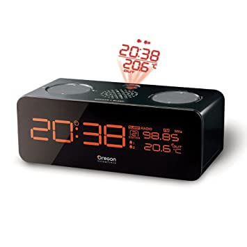 Oregon Scientific Projector Alarm Clock Reloj proyector, Negro ...