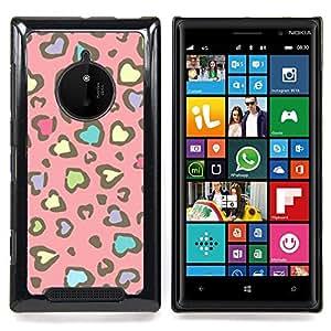 Stuss Case / Funda Carcasa protectora - Modelo de la piel del guepardo del rosa amarillo - Nokia Lumia 830