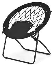 Goplus Bungee Chair Outdoor Camping Gaming Hiking Garden Patio Portable Steel Folding Bunjo Dish Chairs