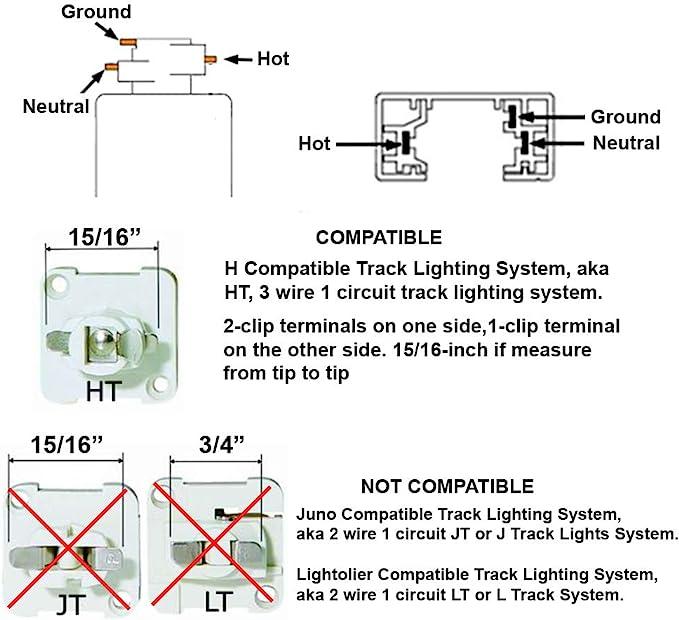 Direct Lighting 50007 Brushed Steel Universal Line Voltage Track Lighting Head Amazon Com