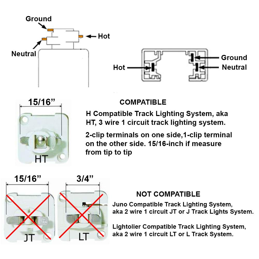 Direct Lighting 50010 White Mr16 Cylinder Low Voltage Track Gear Head 15 Circuit Wiring Diagram