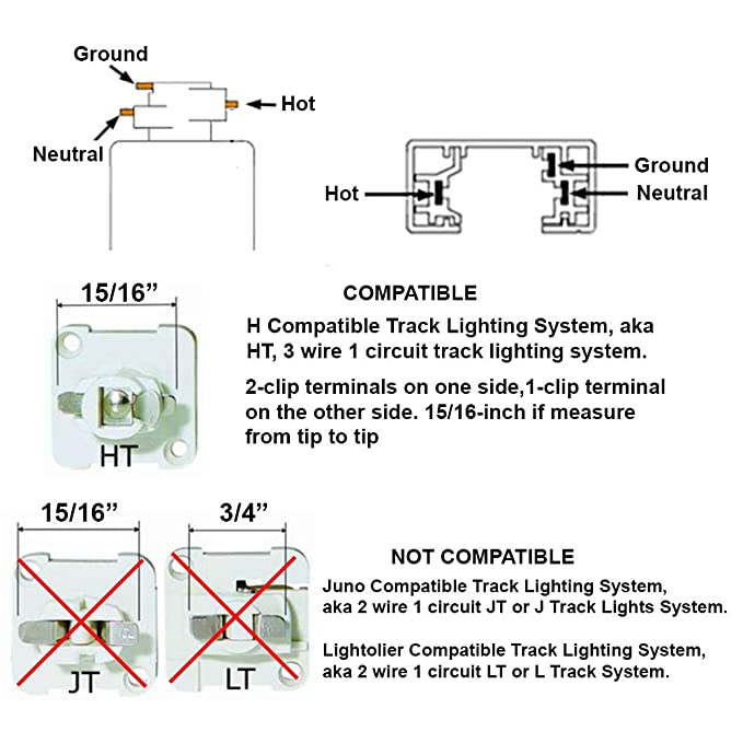 direct lighting 50007 white universal line voltage track lighting