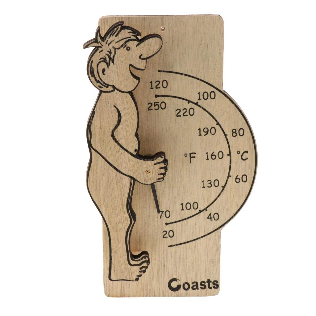 B Blesiya Wooden Digital Thermometer Sauna Accessories for Sauna Room Wall Mounted