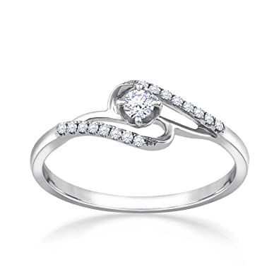 1517aaf4300a1 Buy Malabar Gold and Diamonds 18KT White Gold and Diamond Ring for ...