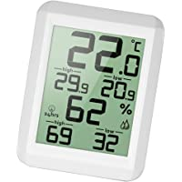 HOMYL Digital Hygrometer Indoor Thermometer Temperature Humidity Gauge, Perfect for Baby Room, Bedroom