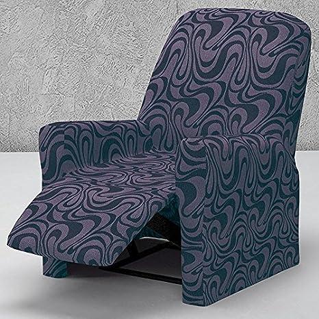 Funda de Sillón Relax Completo Elástica Modelo CALIFORNIA, Color AZUL C/4, Medida 70-100cm