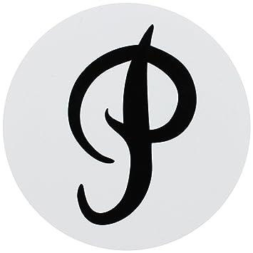 Primitive Skateboard Sticker P Logo Circle White 3 Amazon
