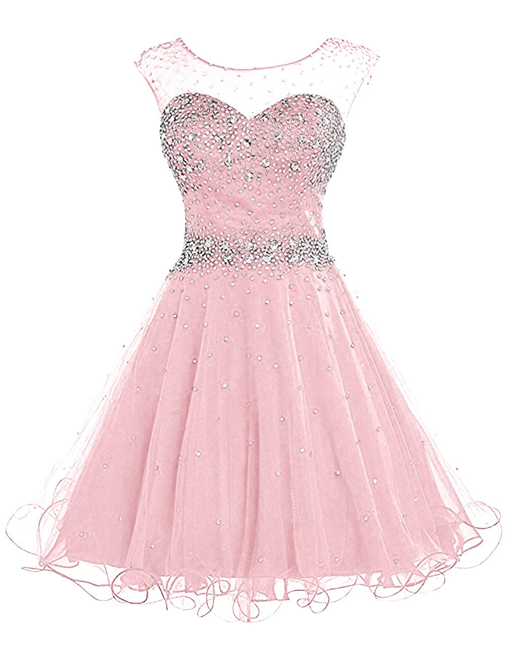 Light Pink H.S.D Homecoming Dresses Prom Party Dresses Short Cocktail Dress Beads Graduation Gown