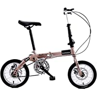 Modzye Folding Bicycle Portable Lightweight-14inch Wheel Adult Children Women and Man Outdoor Sports Bicycle,Single…