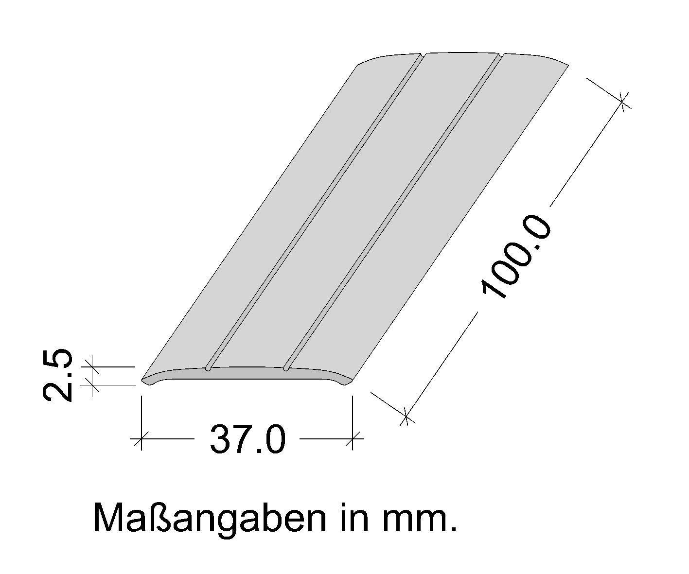 Ausgleichsprofil Bronze eloxiert Boden-Leiste mit Breite 37 mm Gedotec Aluminium /Übergangsprofil selbstklebend /Übergangsschiene Alu flach Abdeckleiste 100 cm 1 St/ück Bodenprofil Schiene