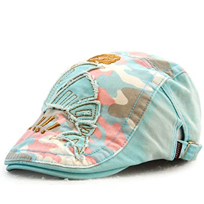 Camo Newsboy Cap Cotton Gatsby Flat Ivy Beret Hat Adjustable