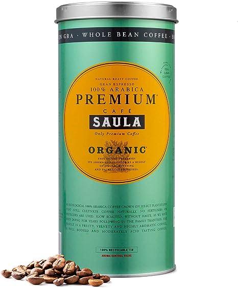 Café Saula grano Premium Ecológico 100% arábica - Pack 2 botes de 500 gr: Amazon.es: Alimentación y bebidas
