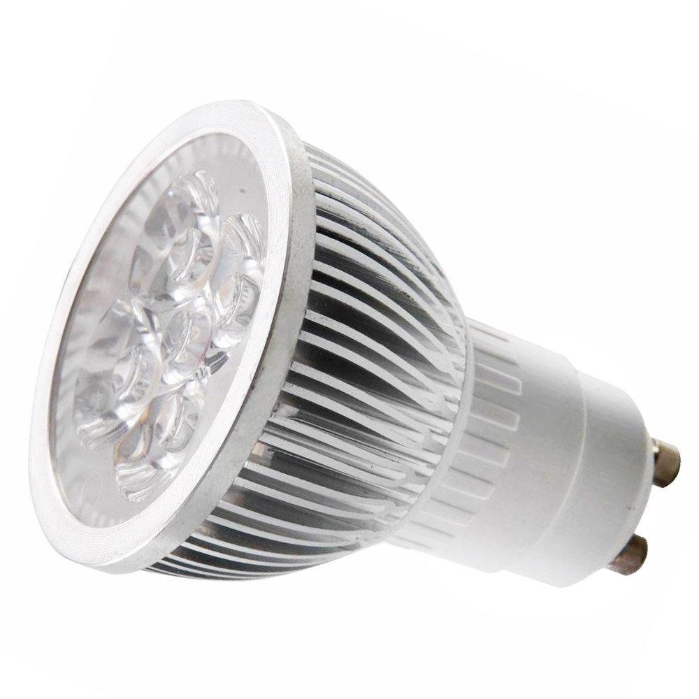 110v 4w gu10 led bulb 6000k daylight led spotlight 50watt 110v 4w gu10 led bulb 6000k daylight led spotlight 50watt equivalent 330 lumen 45 degree beam angle led household light bulbs amazon parisarafo Gallery